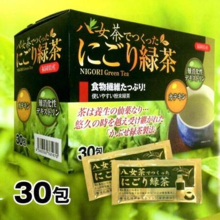 八女茶でつくった にごり緑茶 定価/30包 ¥3.800(税別)